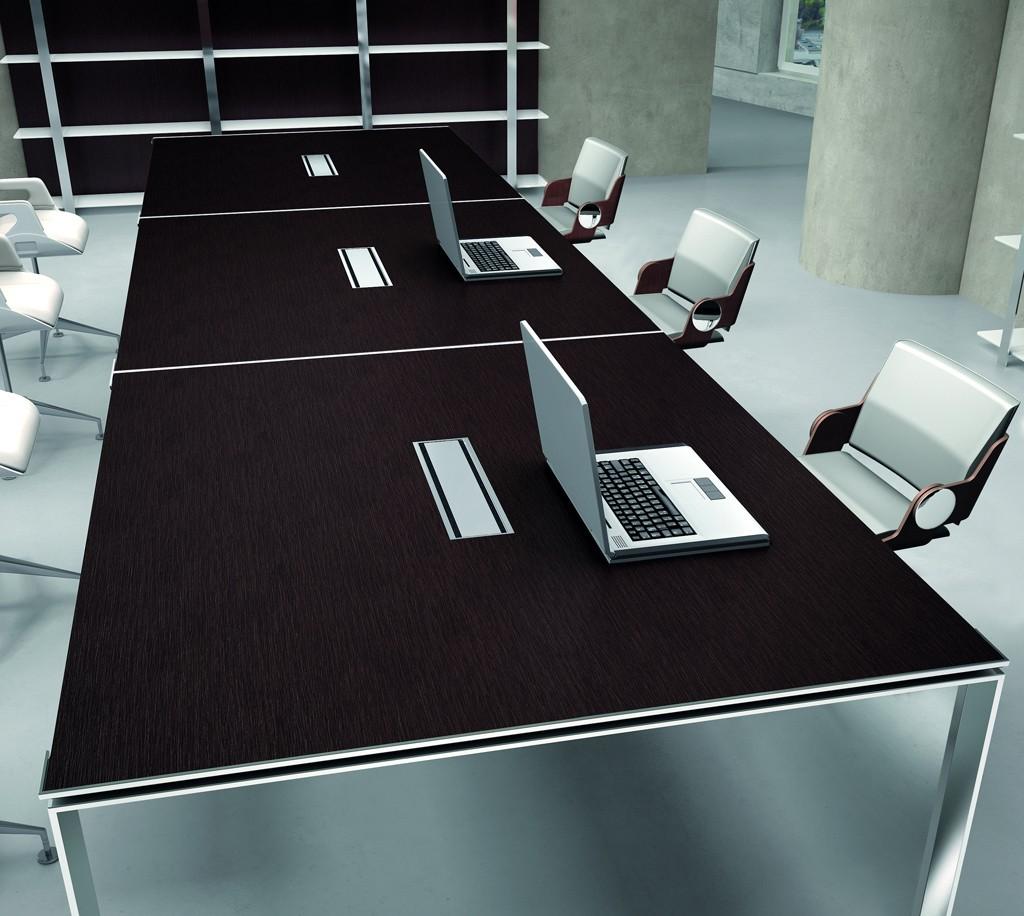 Grande Table De R Union X7 Avec Pieds Ouverts Chrom S Officity Ta