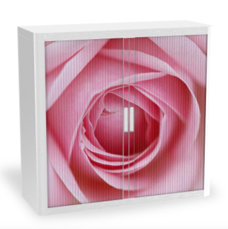 Armoire à rideaux avec décor nature – EasyOffice. Armoires