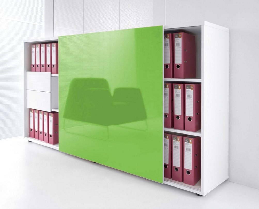 Armoire de bureau avec porte coulissante brillante mdd armoires mdd