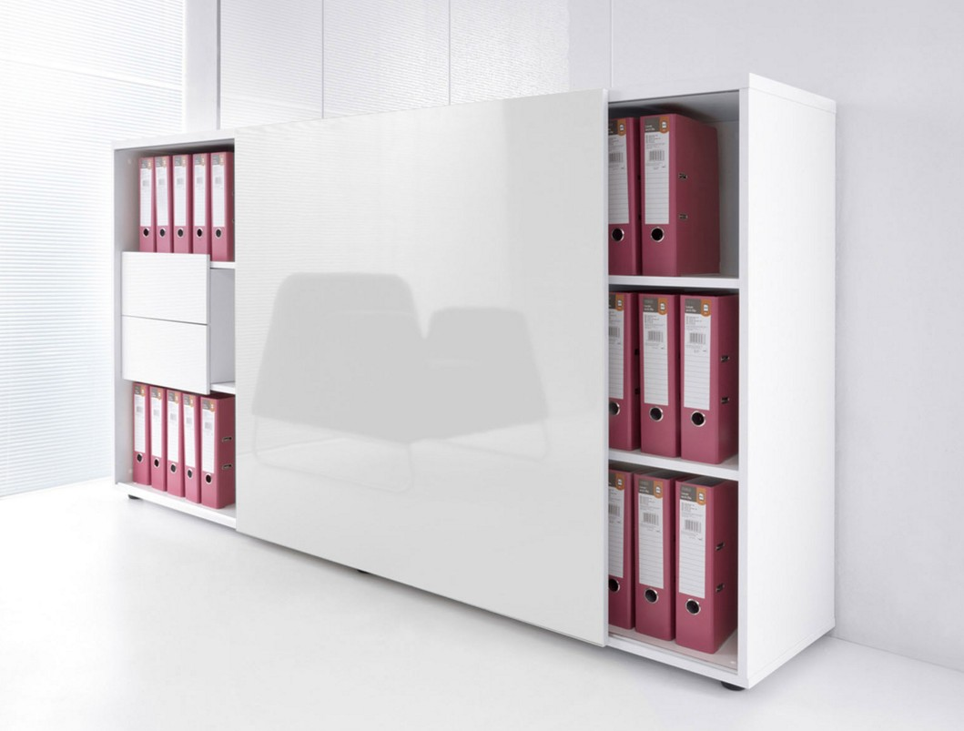 armoire de bureau avec porte coulissante brillante mdd armoires mdd. Black Bedroom Furniture Sets. Home Design Ideas