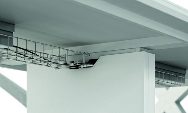 goulotte guide c bles sous plateau x8 officity accessoires de b. Black Bedroom Furniture Sets. Home Design Ideas