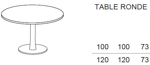 table de r union ronde idea pied central quadrifoglio tables de. Black Bedroom Furniture Sets. Home Design Ideas