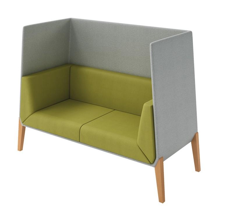 canapé cocooning 2 places design accord - offisit accueil offisit