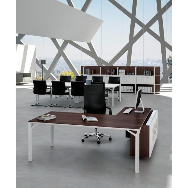 bureau d 39 angle x8 avec caisson de rangement officity bureaux de. Black Bedroom Furniture Sets. Home Design Ideas