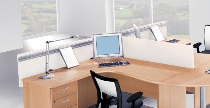 panneau de s paration en m lamin quadrifoglio cloisonettes quadr. Black Bedroom Furniture Sets. Home Design Ideas