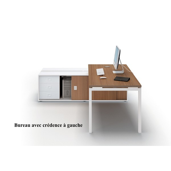Bureau idea 01 avec syst me d lectrification int gr for Mobilier bureau quadrifoglio