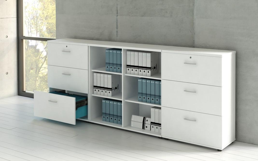 Armoire moyenne avec 3 tiroirs pour le classement des - Stores de bureau ...