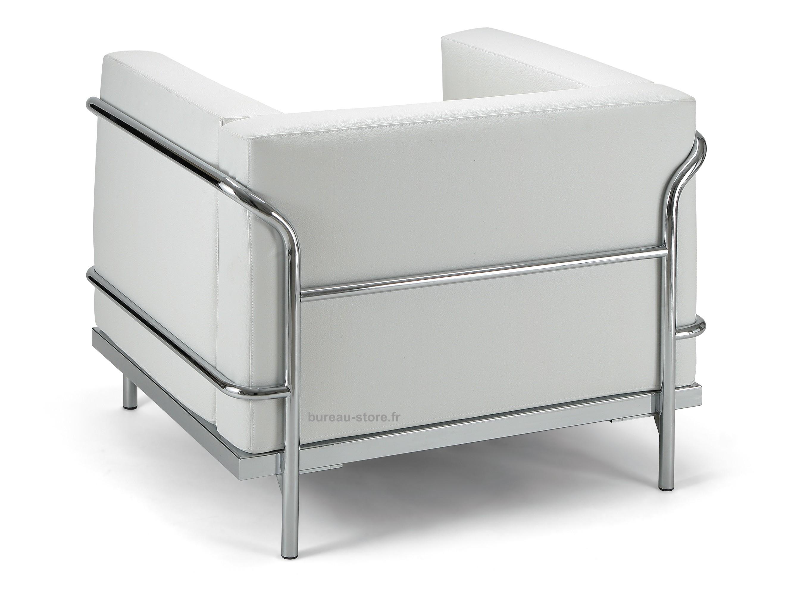 Fauteuil d accueil cuir blanc ou noir soft fauteuils d accueil