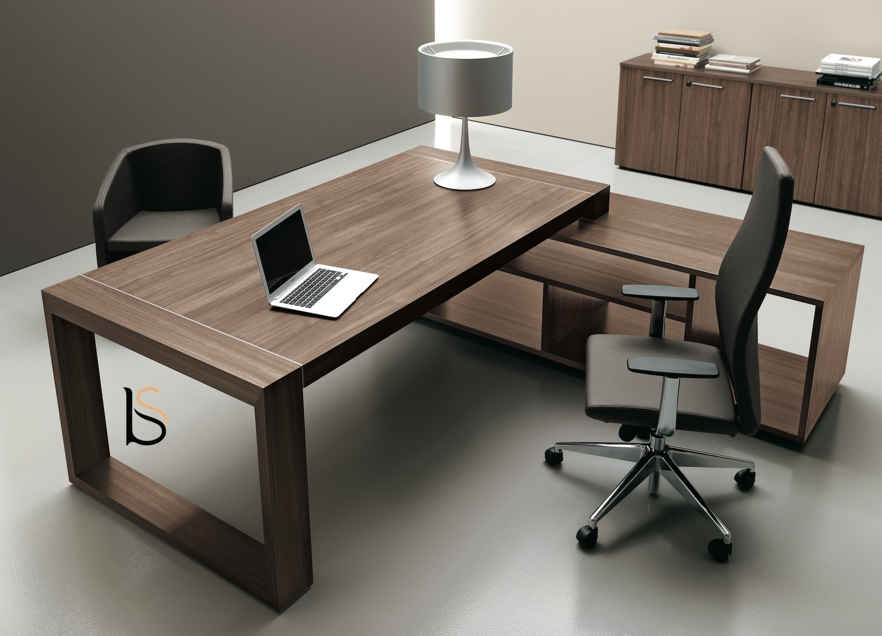 bureau de direction avec cr dence diplomat office co bureaux d. Black Bedroom Furniture Sets. Home Design Ideas