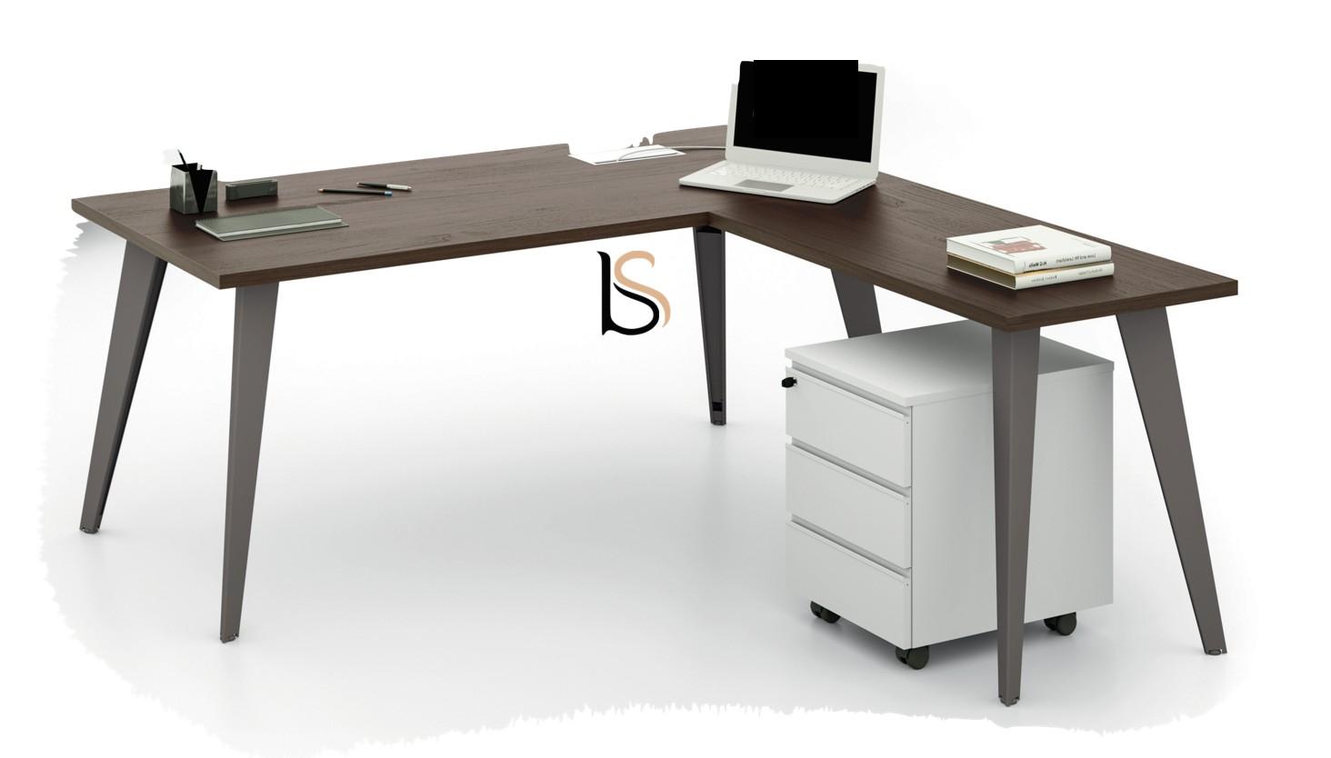 bureau avec retour pigreco martex bureaux op ratif martex. Black Bedroom Furniture Sets. Home Design Ideas