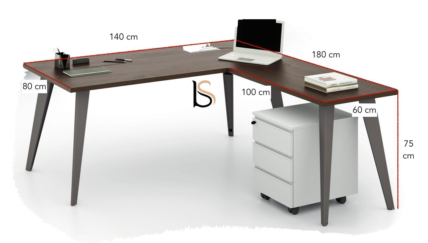 Bureau avec retour pigreco u martex bureaux opératif martex