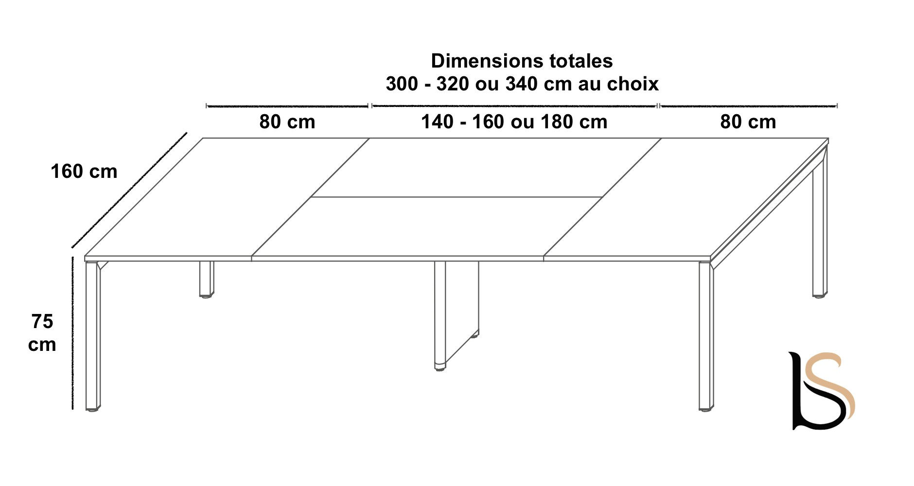 Table de r union yard martex tables de r union martex for Dimension table bureau