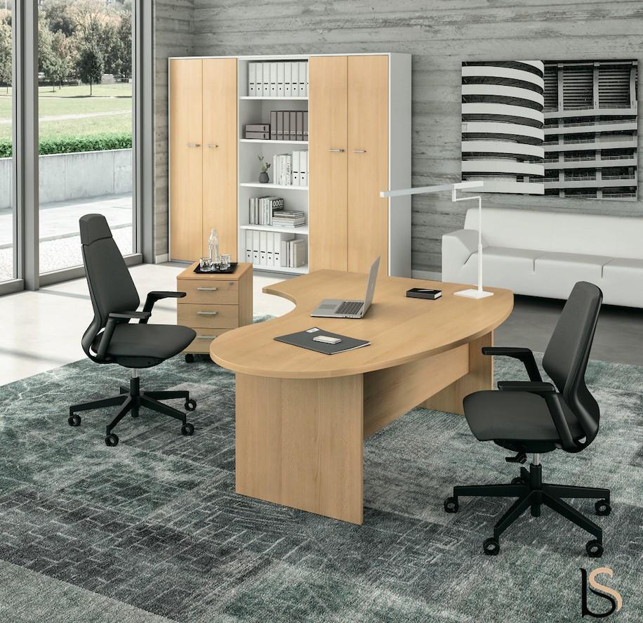 Bureau ergonomique idea pano quadrifoglio bureaux for Mobilier bureau quadrifoglio