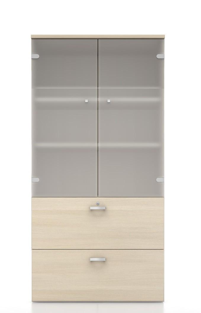 armoire haute mixte pour dossiers suspendus mobel linea. Black Bedroom Furniture Sets. Home Design Ideas