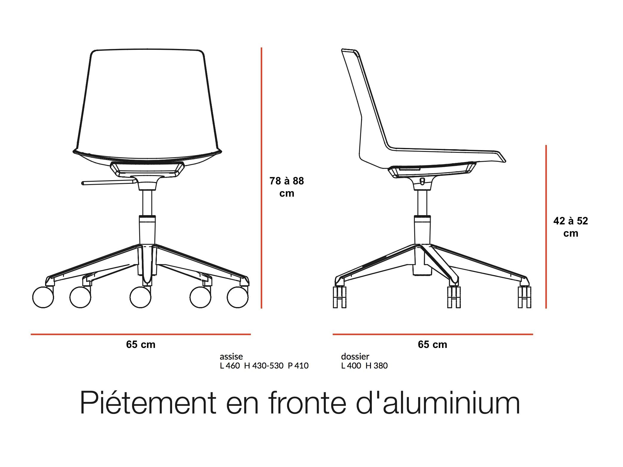 Chaise à roulettes CLUE – Offisit Sièges de bureau Offisit